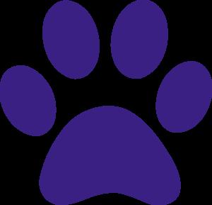 Paw Print Purple